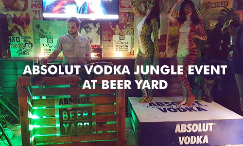 ABSOLUT VODKA JUNGLE EVENT BEER YARD
