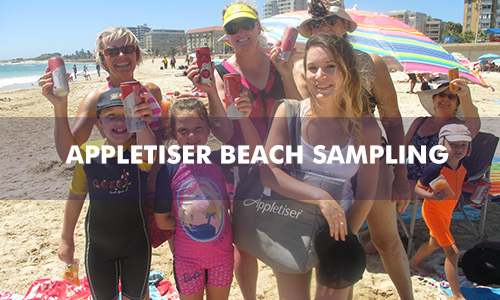 APPLETISER BEACH SAMPLING FLYER DROP