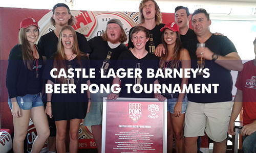 CASTLE LAGER BARNEY'S BEERPONG CHALLENGE