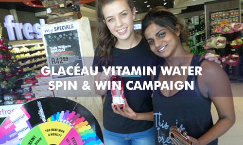 GLACÉAU VITAMIN WATER SPIN AND WIN CAMPAIGN