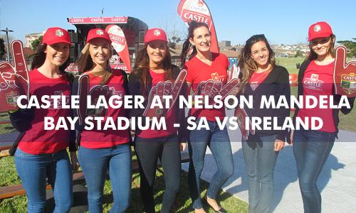 CASTLE LAGER AT NELSON MANDELA BAY STADIUM SOUTH AFRICA vs IRELAND