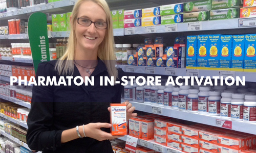 PHARMATON IN-STORE ACTIVATIONS