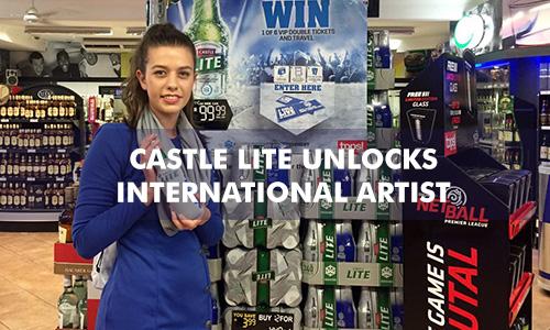 CASTLE LITE UNLOCKS INTERNATIONAL ARTIST