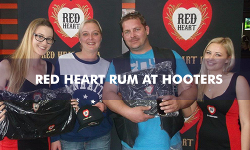 RED HEART RUM AT HOOTERS